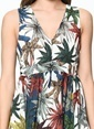 Tommy Hilfiger Askılı Desenli Kloş Elbise Renkli